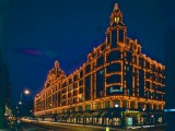 Harrods lit up